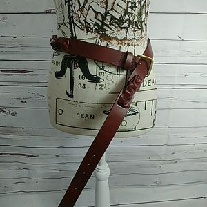 Lucky Brand Leather Belt Large lg new nwt brown